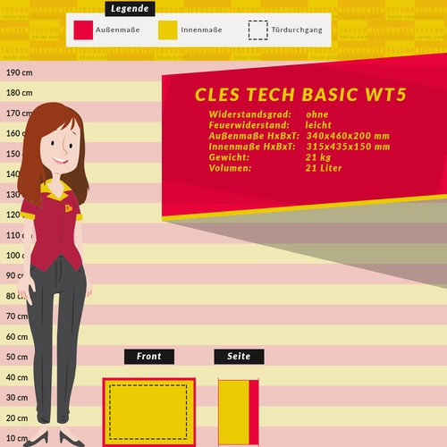 CLES tech basic WT 5 Wandtresor