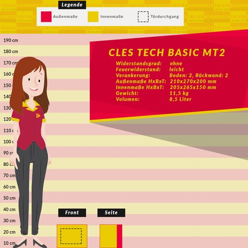 CLES tech basic MT 2 Möbeltresor
