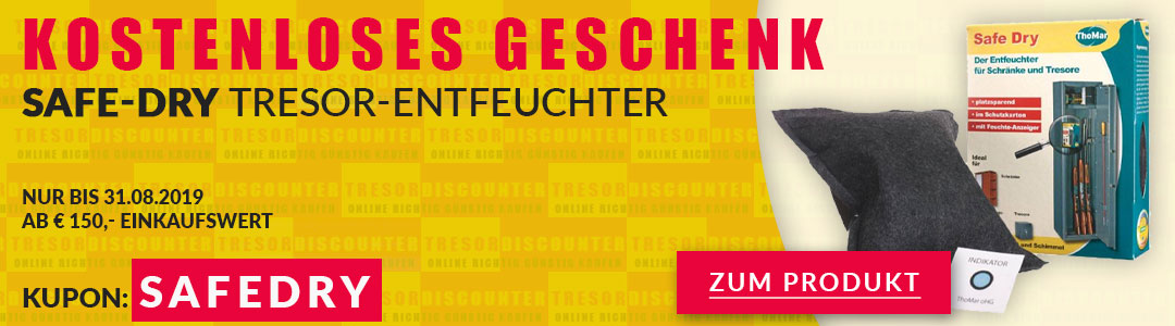 Sonderaktion: Tresor Entfeuchter gratis!